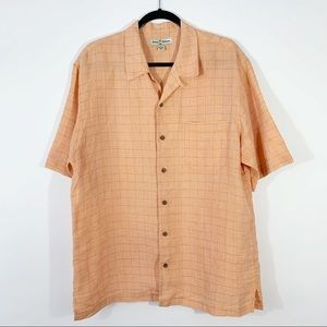 TOMMY BAHAMA . Button Front S/S Shirt . L